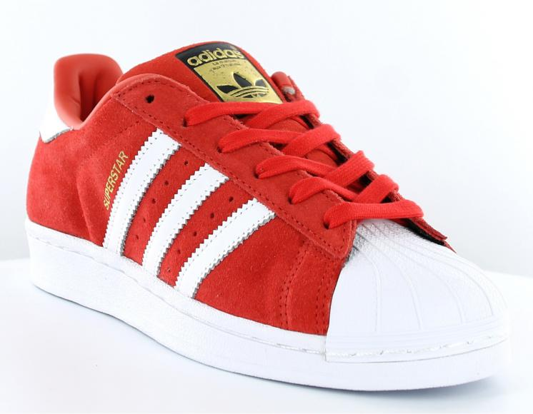 most popular pretty cool stable quality Adidas Superstar Rouge Rouge Et Blanche